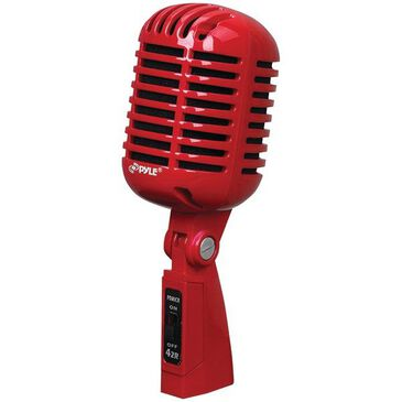 Pyle Classic Retro-Style Dynamic Vocal Microphone in Red, , large