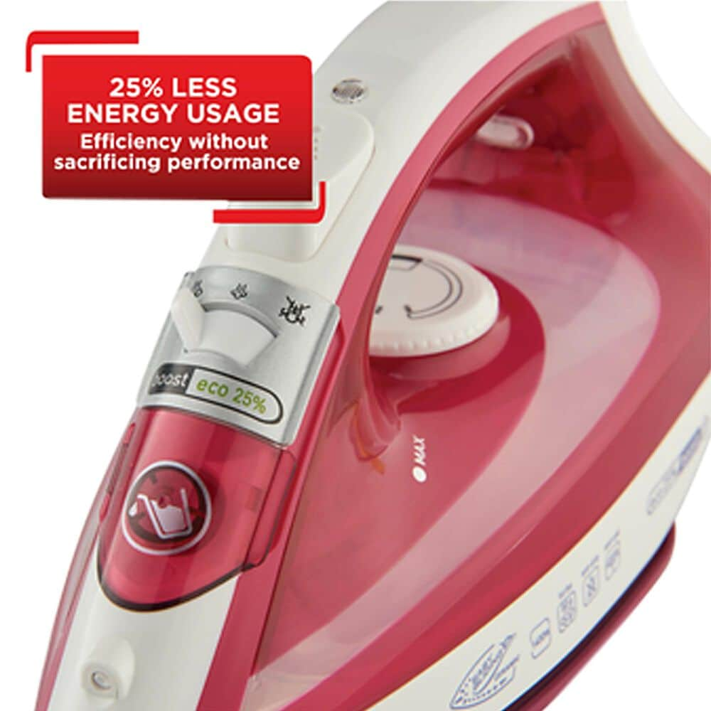 T-Fal Eco Master Steam Iron in Red and White, , large