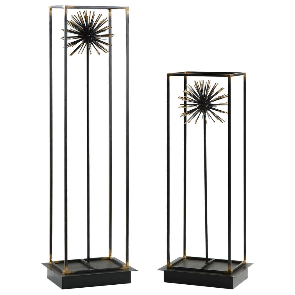 Uttermost Sculpture in Aged Black and Gold (Set of 2), , large