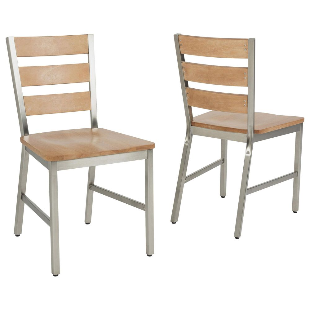 Home Styles Sheffield Dining Chair in Brown (Set of 2), , large