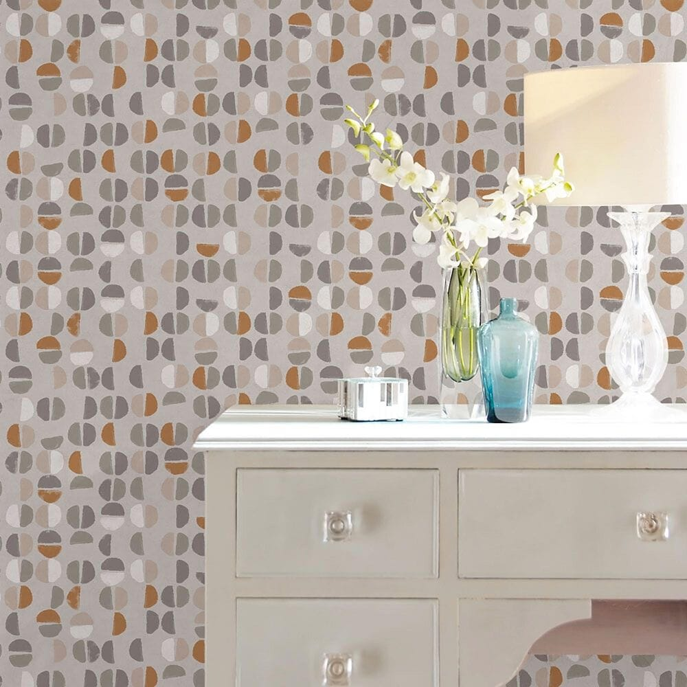 Tempaper Coffee Beans Sienna Peel and Stick Wallpaper, , large