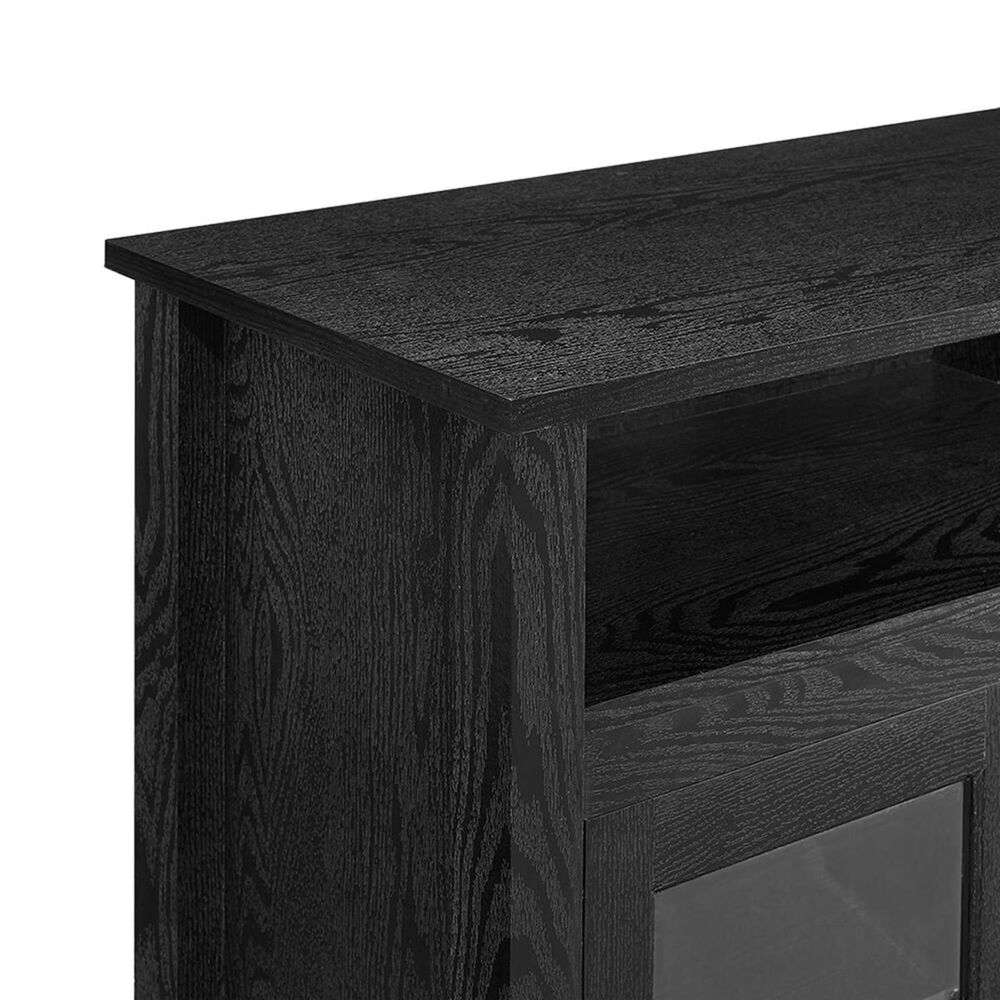 """Walker Edison 58"""" Tall Fireplace TV Stand in Black, , large"""