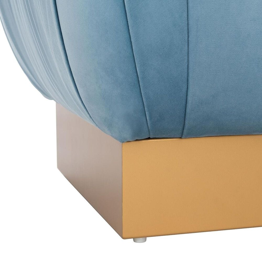 Safavieh Ophelia Ottoman in Sky and Gold, , large