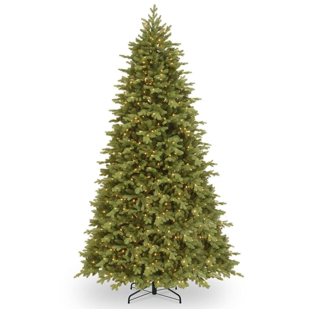 """National Tree 9"""" Feel Real Princeton Fraser Fir Hinged Tree with 1000 Dual Color LED Lights, , large"""