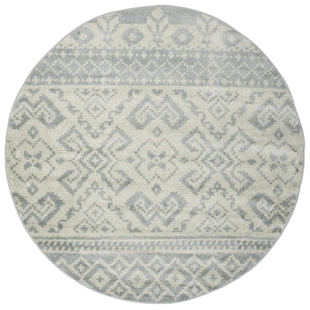 Safavieh Adirondack ADR107T 6' Round Slate and Ivory Area Rug, , large