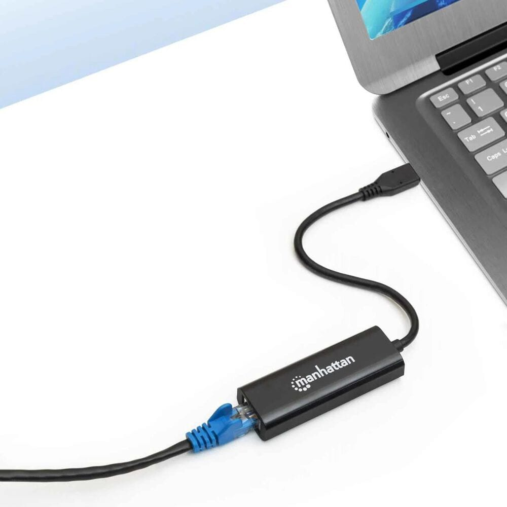Manhattan USB-C to 2.5GBASE-T Ethernet Adapter in Black, , large