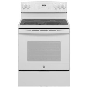 """GE Appliances 30"""" Freestanding Electric Range with Convection in White, , large"""