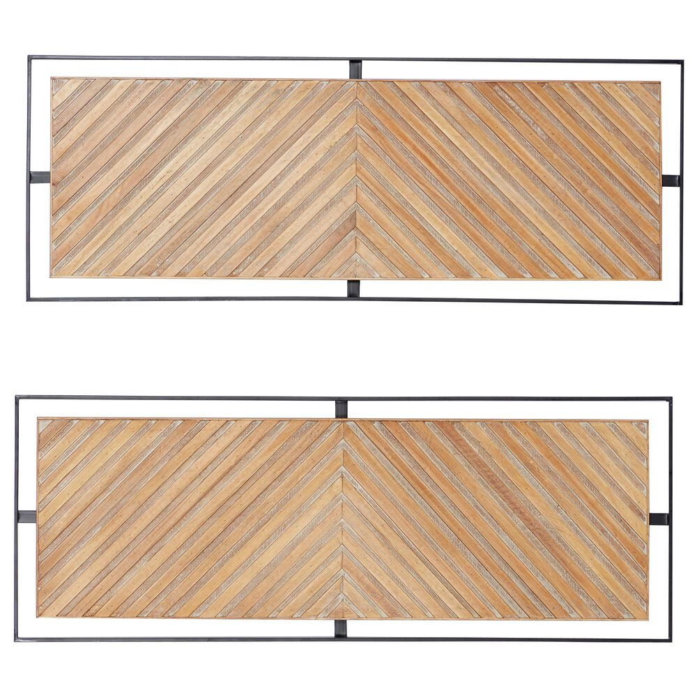 Maple and Jade Farmhouse Metal Wall Decor in Brown (Set of 2), , large