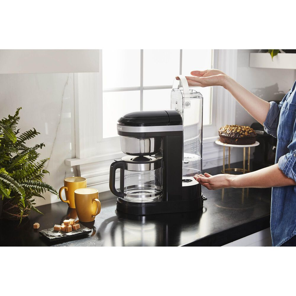 KitchenAid 12 Cup Drip Coffee Maker with Programmable Warming Plate in Onyx Black, , large