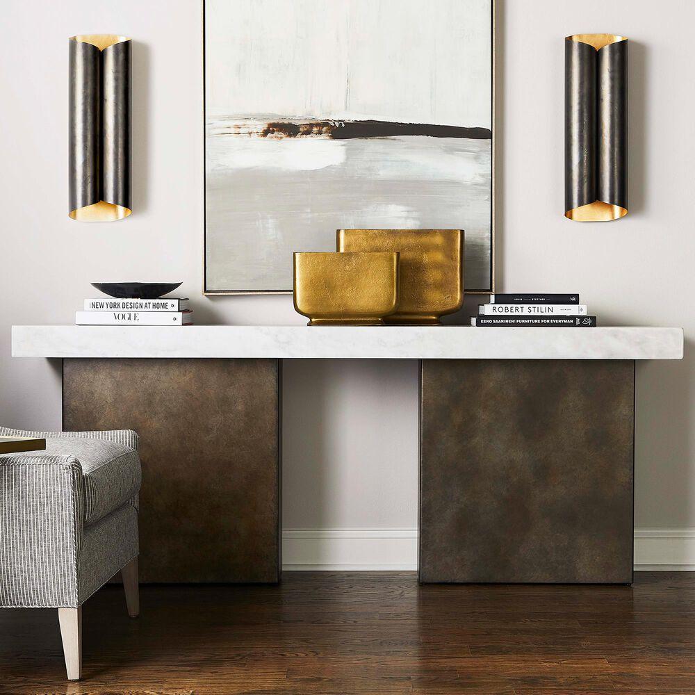 Vanguard Furniture Santa Cruz Sofa Table in Bronze and White, , large