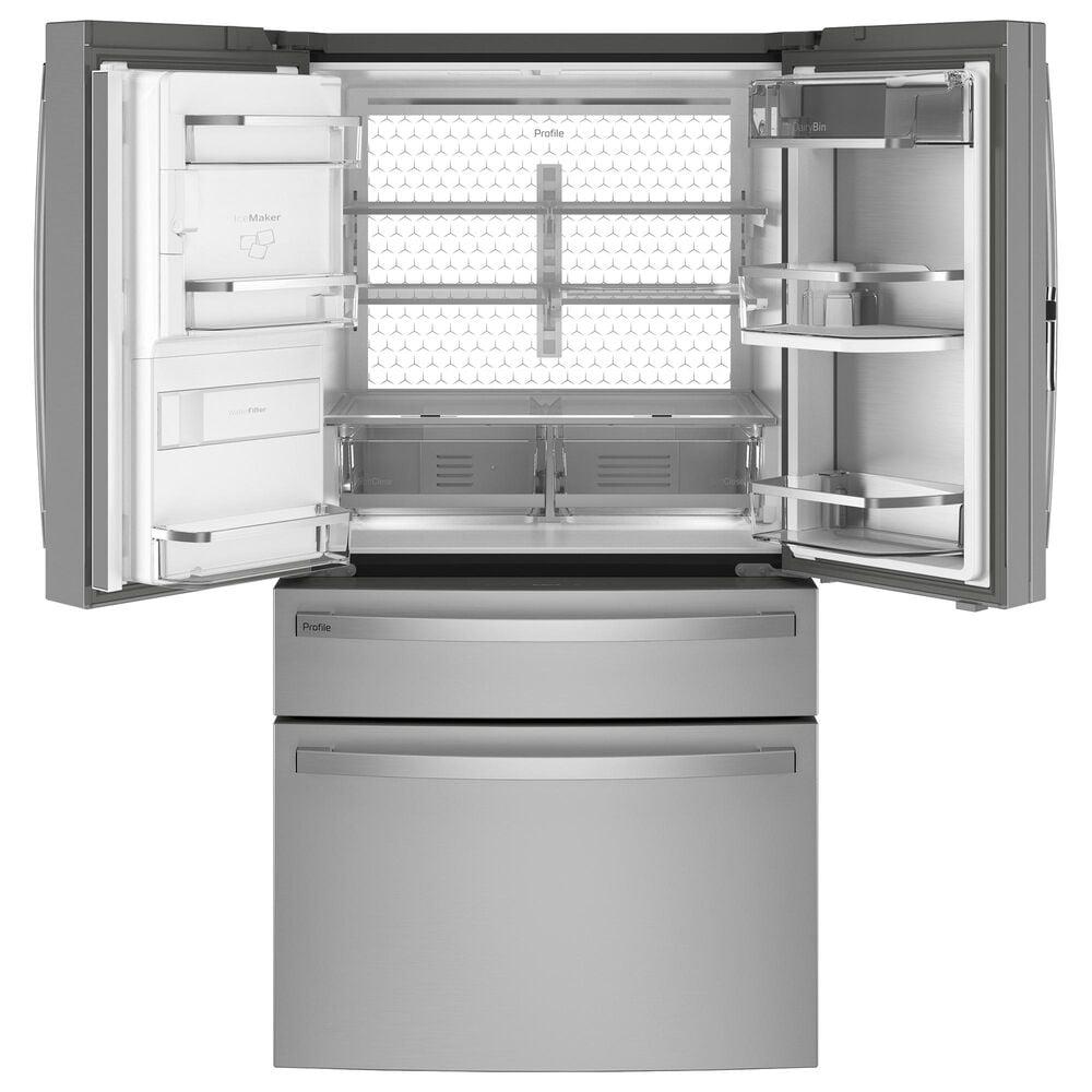 GE Profile 27.6 Cu. Ft. 4-Door French-Door Refrigerator in Stainless Steel, , large