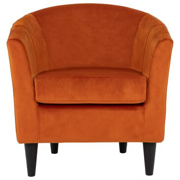 Overman International Corp Chantel Accent Chair in Orange Velvet, , large