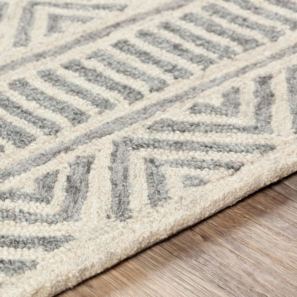Surya Granada GND-2325 8' x 10' Medium Gray, Beige and Charcoal Area Rug, , large