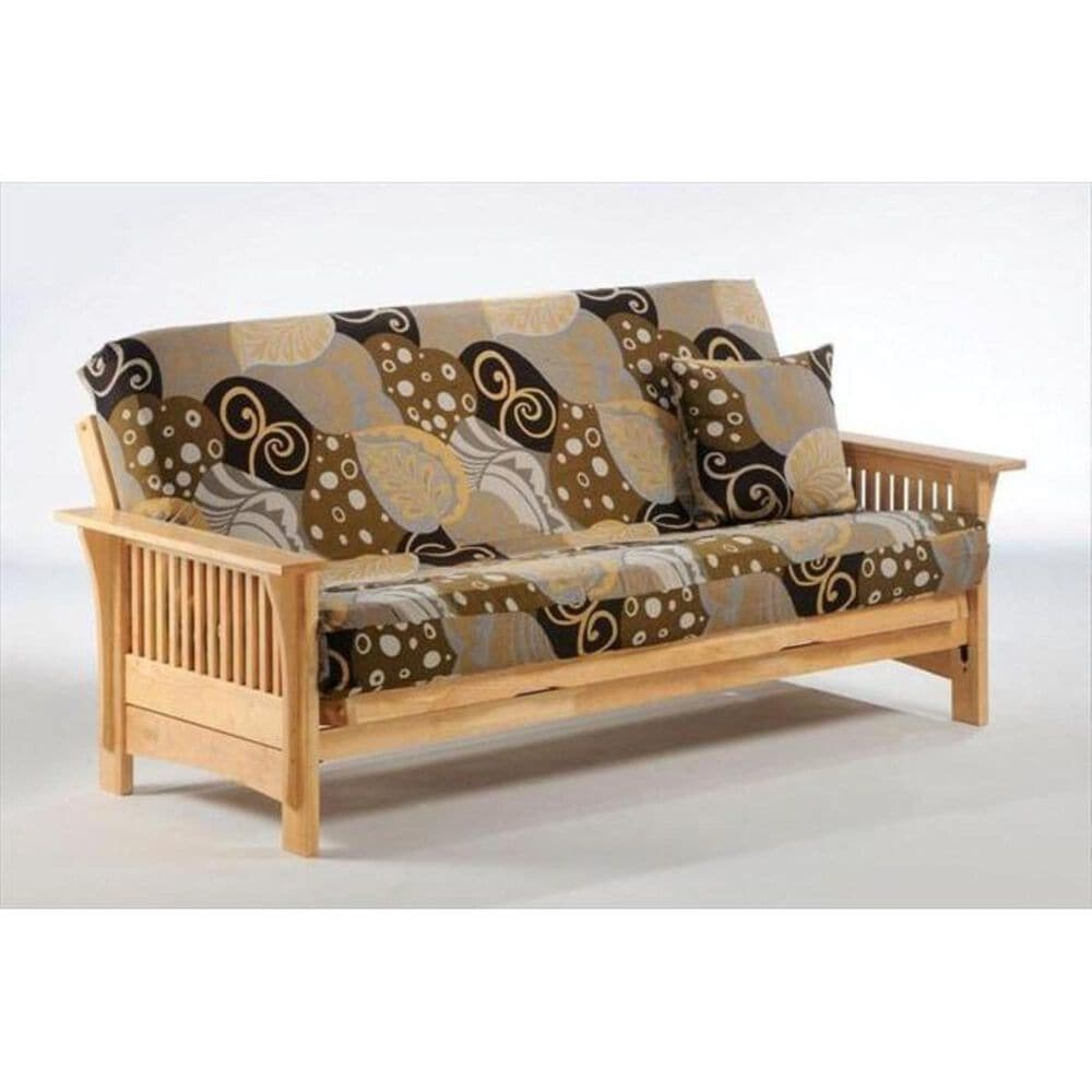 New Day Furniture Autumn Full Futon Frame Only in Natural , , large