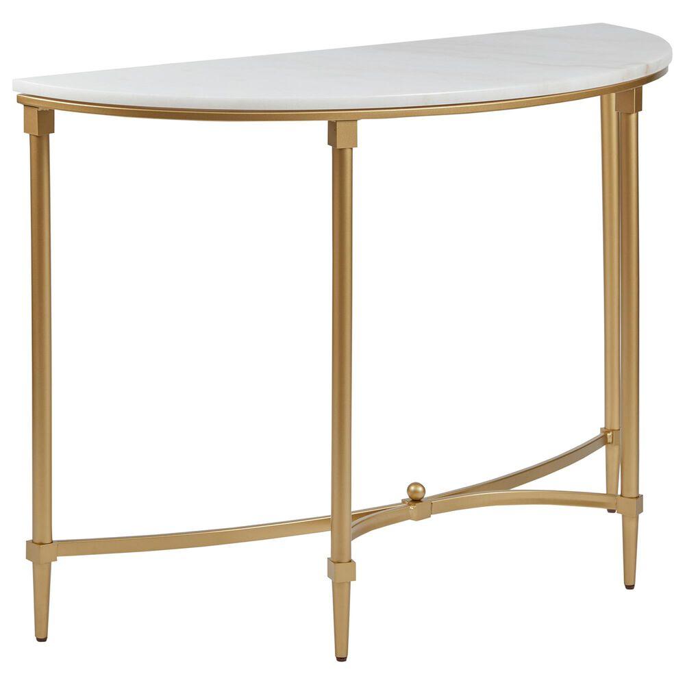 Hampton Park Bordeaux Console Table in White/Gold, , large
