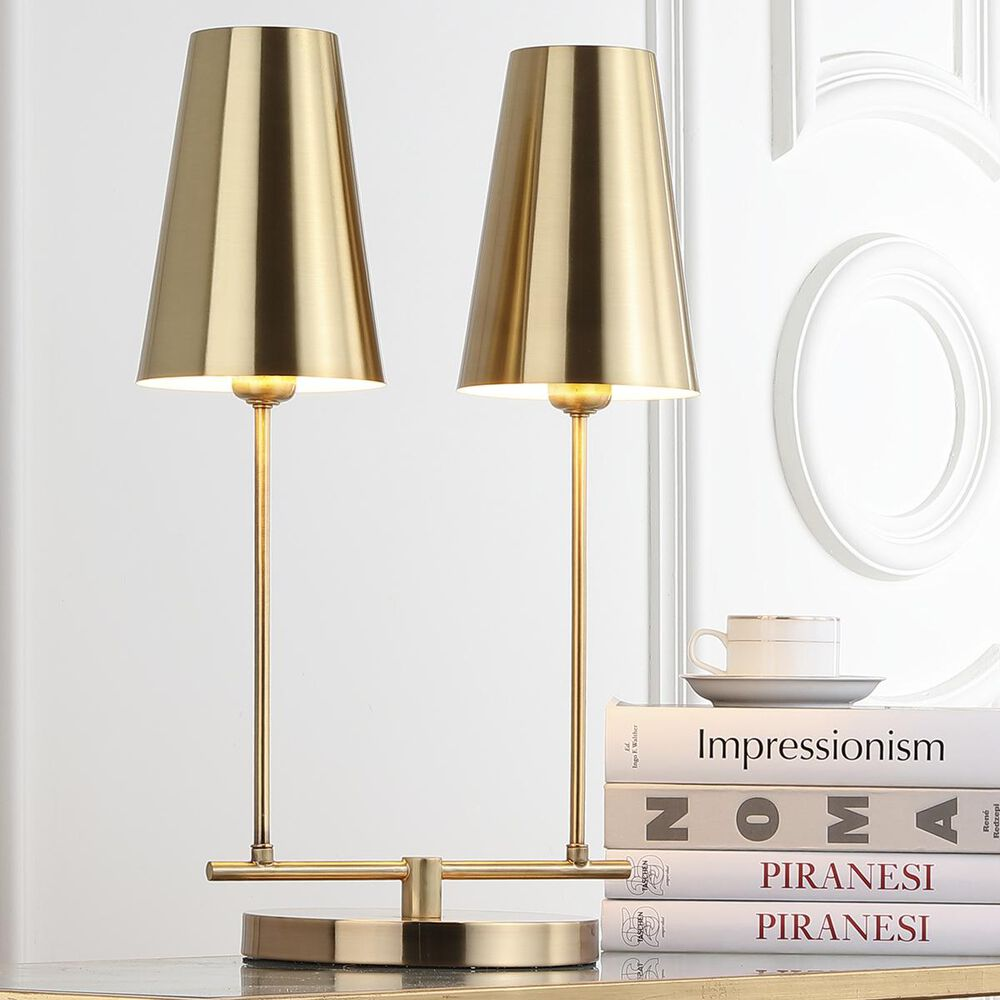 """Safavieh Rianon 22.5"""" Table Lamp in Brass Gold, , large"""