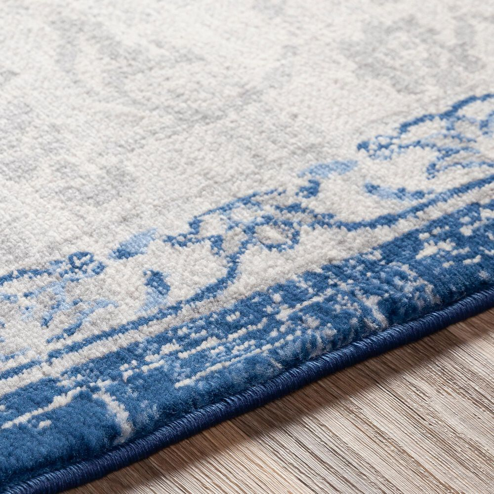 Surya Monaco MOC-2327 2' x 3' Navy, Cream and Silver Gray Scatter Rug, , large