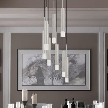 Cal Lighting Troy Chandelier in Brushed Steel, , large
