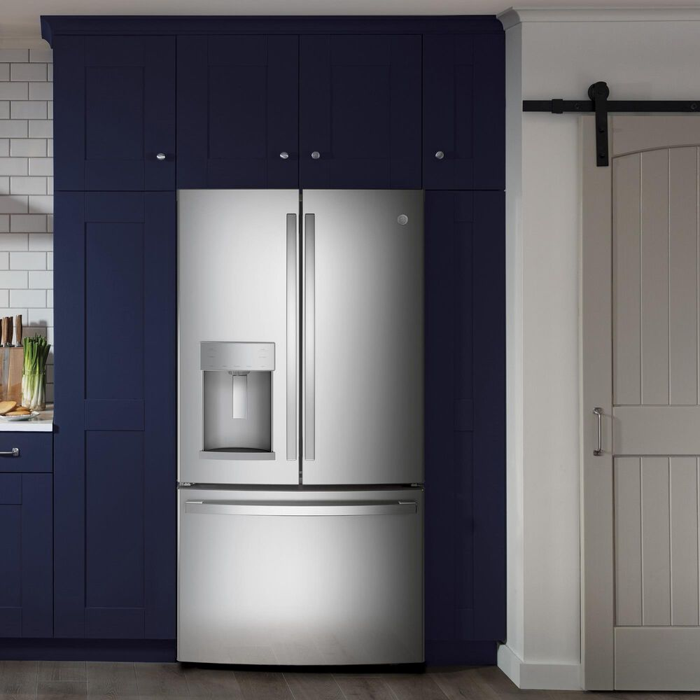 GE Appliances 22.1 Cu. Ft. Counter-Depth French-Door Refrigerator in Fingerprint Resistant Stainless Steel, , large