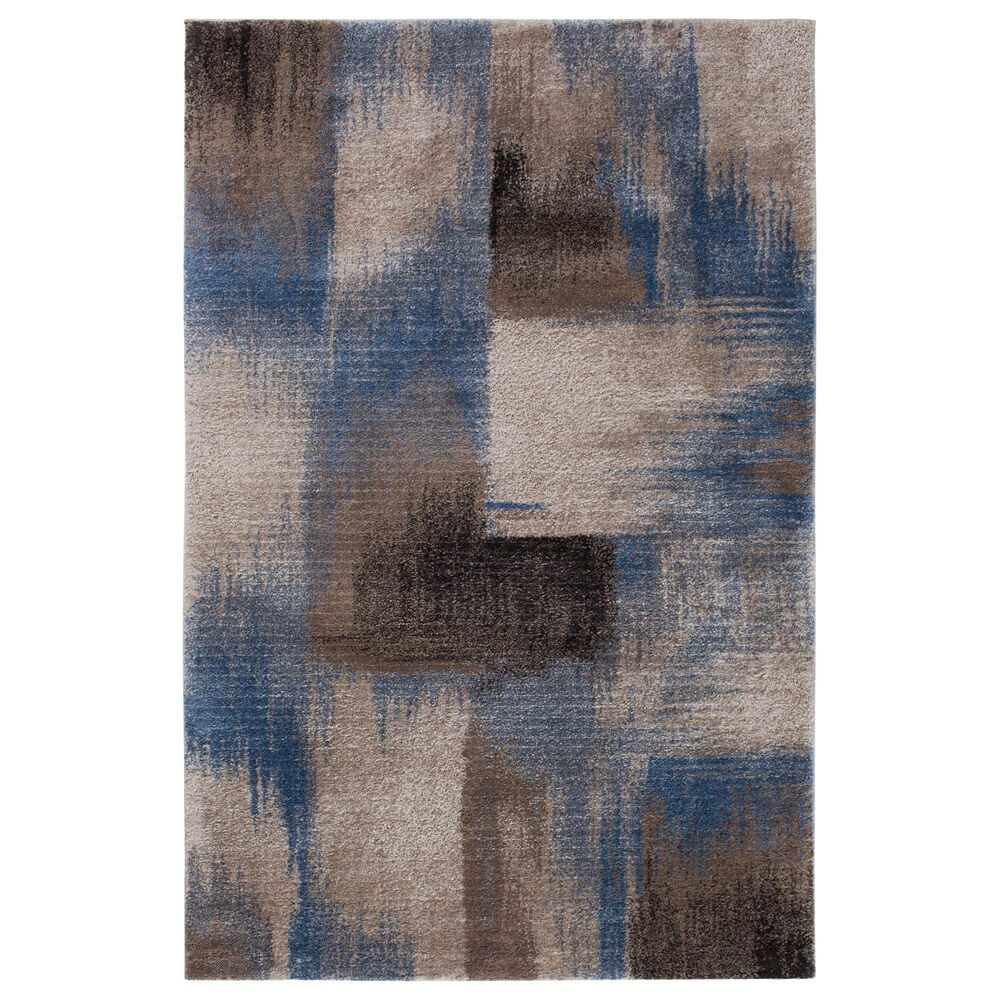 "Central Oriental Structures Torrent Flame 6224MD 7'6"" x 9'6"" Blue and Brown Area Rug, , large"