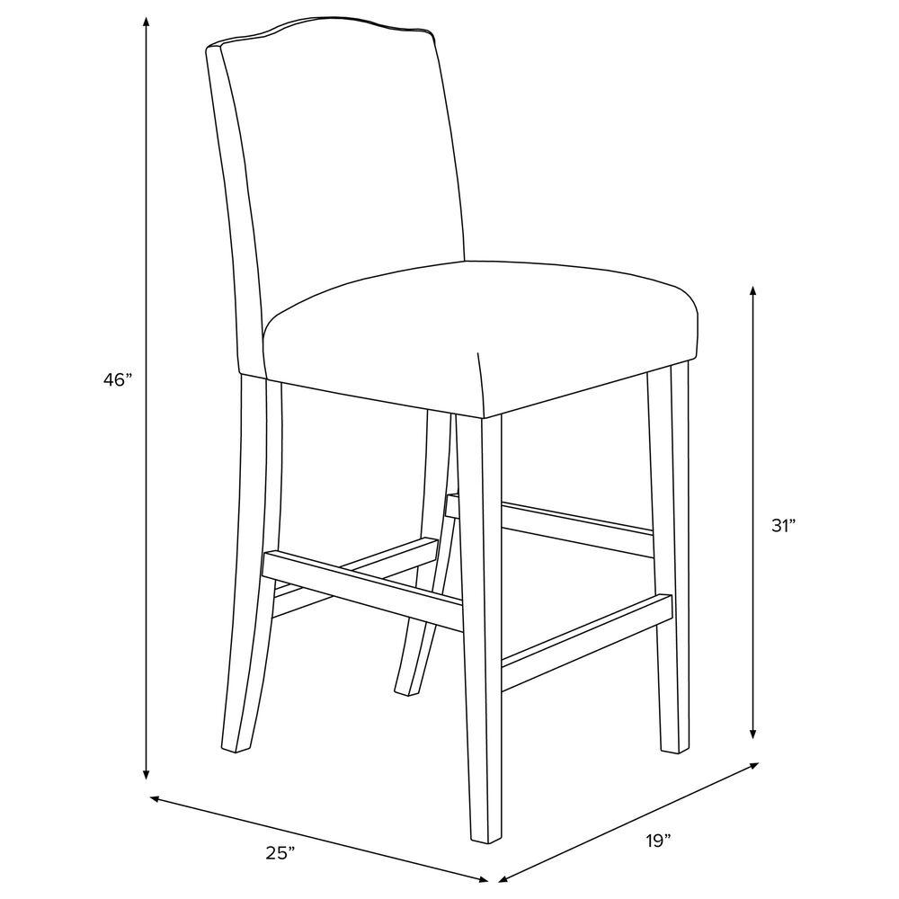 Skyline Furniture Bar stool in Clara Block Navy, , large