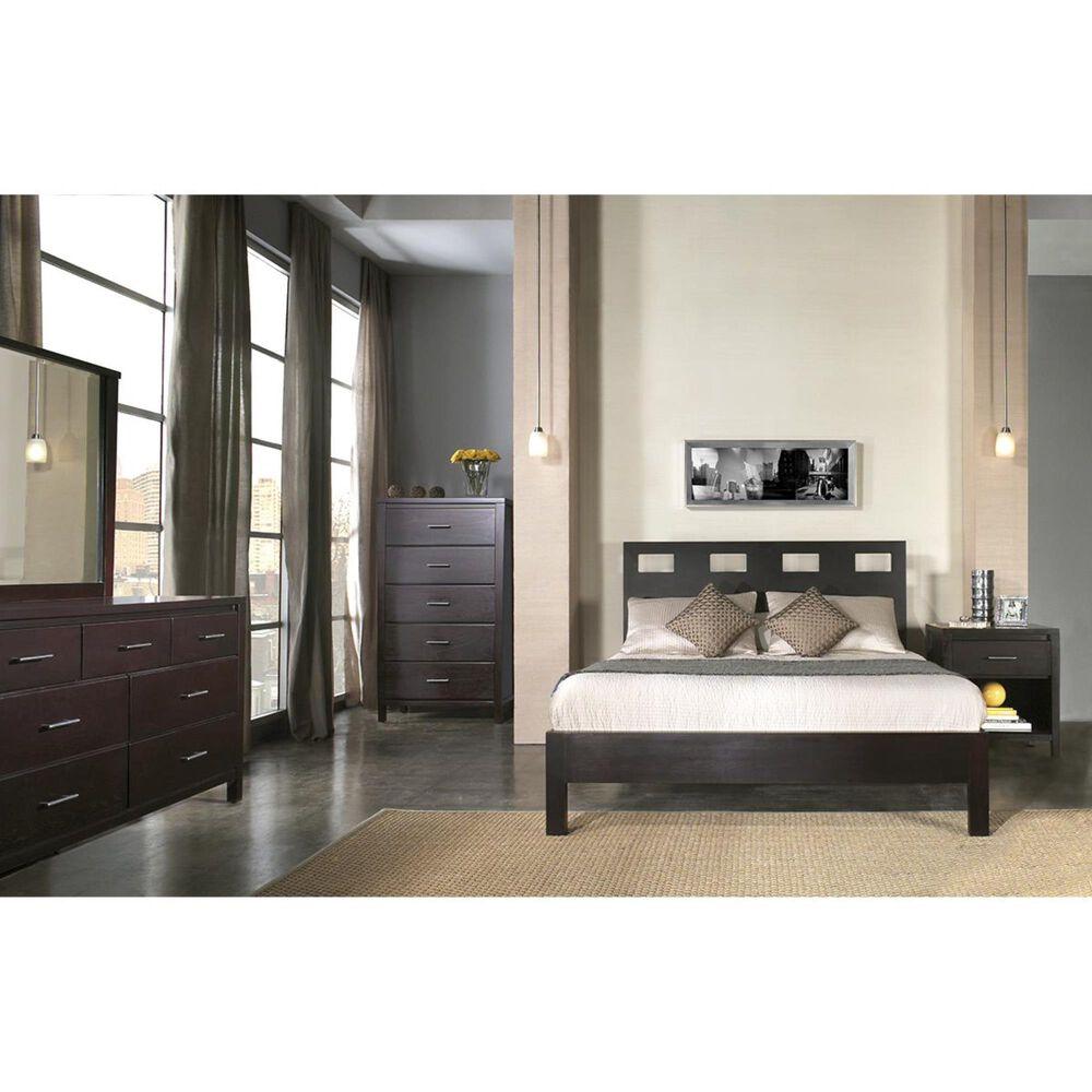 Living Essentials Nevis Queen Platform Bed in Espresso, , large