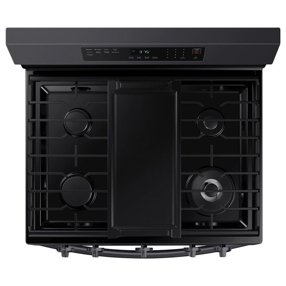 Samsung 6 Cu. Ft. Freestanding Gas Range with No-Preheat Air Fry in Black Stainless Steel, , large