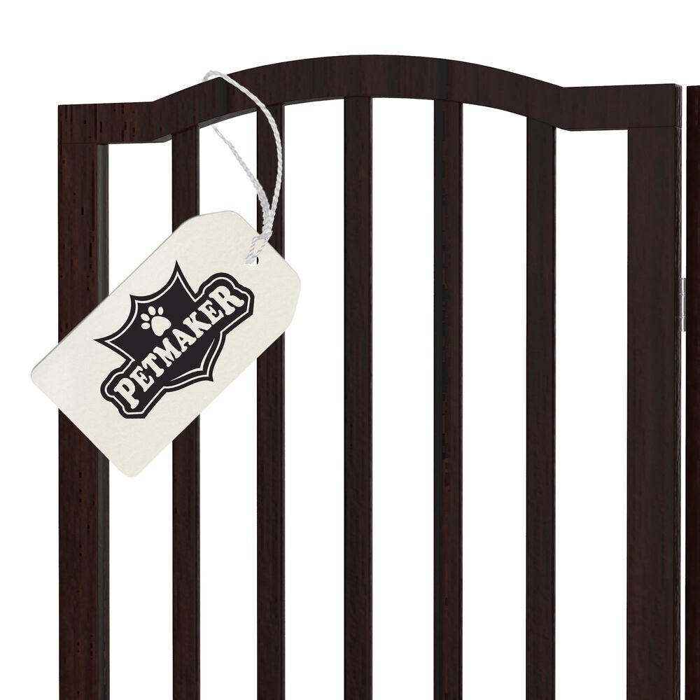 Timberlake Petmaker 4 Panel Rippled Top Folding Fence in Brown, , large