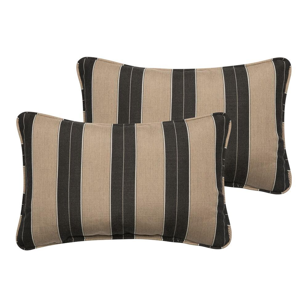 "Sorra Home Sunbrella 13"" x 20"" Pillow in Berenson Tuxedo (Set of 2), , large"