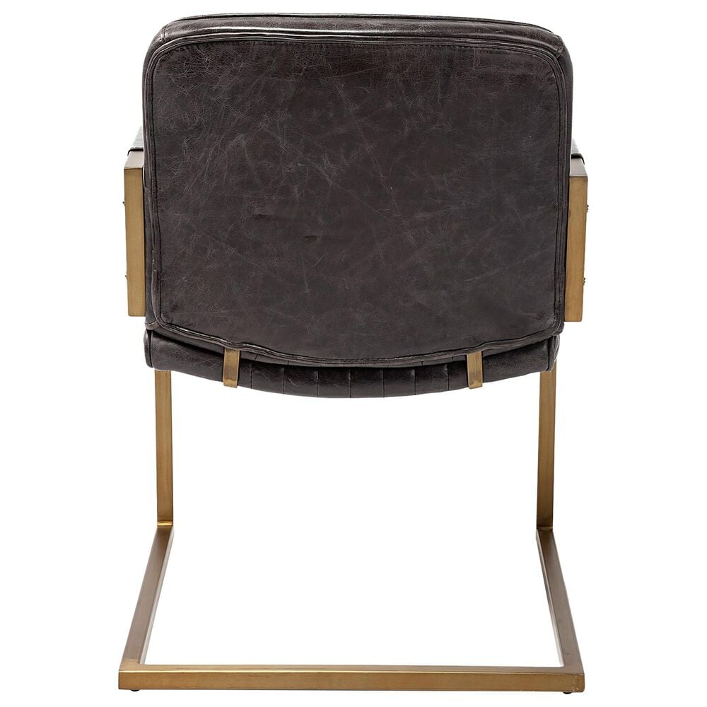 Mercana Horner Accent Chair in Black Leather, , large