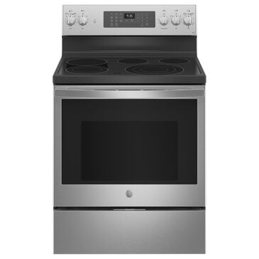 """GE Appliances 30"""" Smart Free-Standing Electric Convection Range in Stainless Steel, , large"""