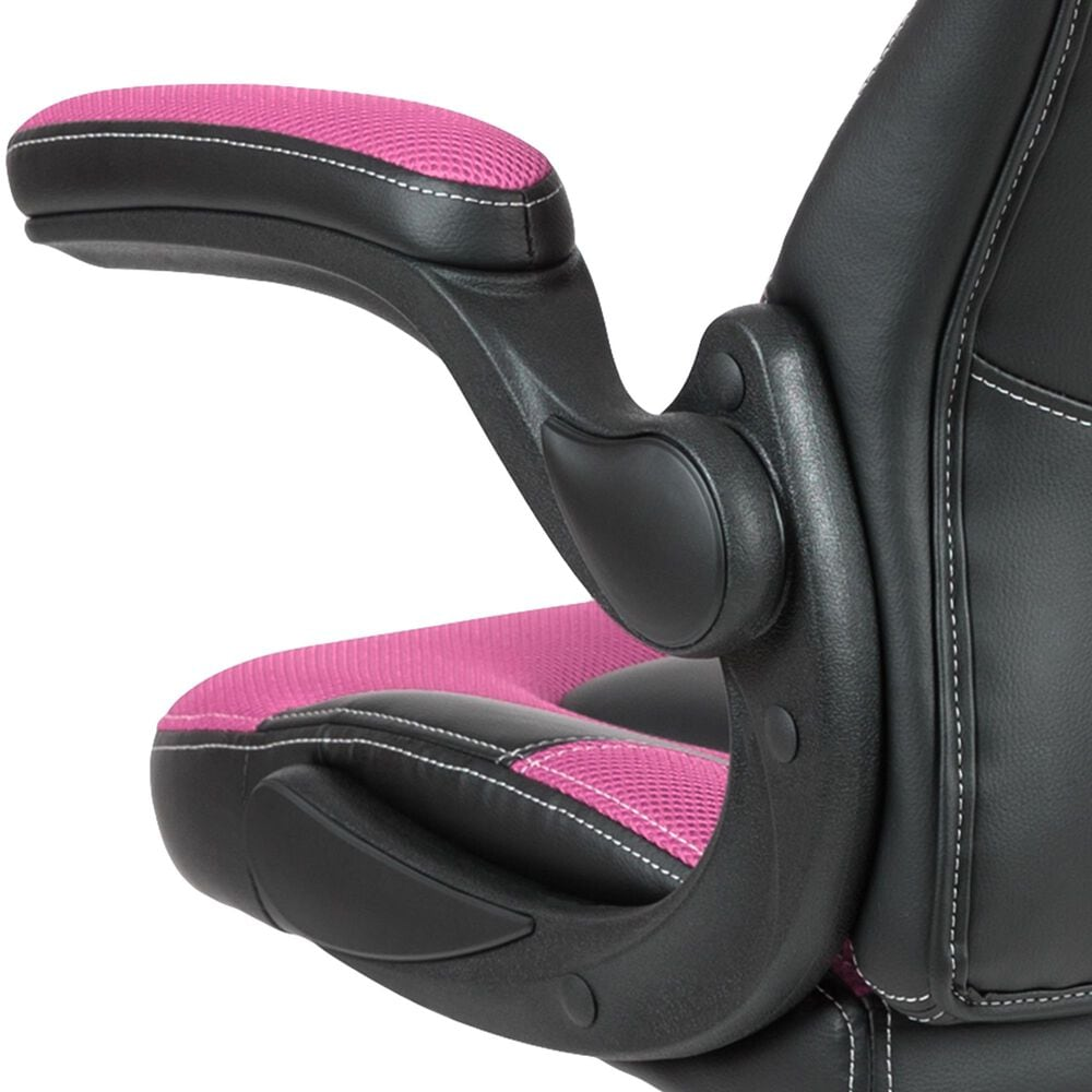 Flash Furniture X10 Gaming Swivel Chair in Pink, , large
