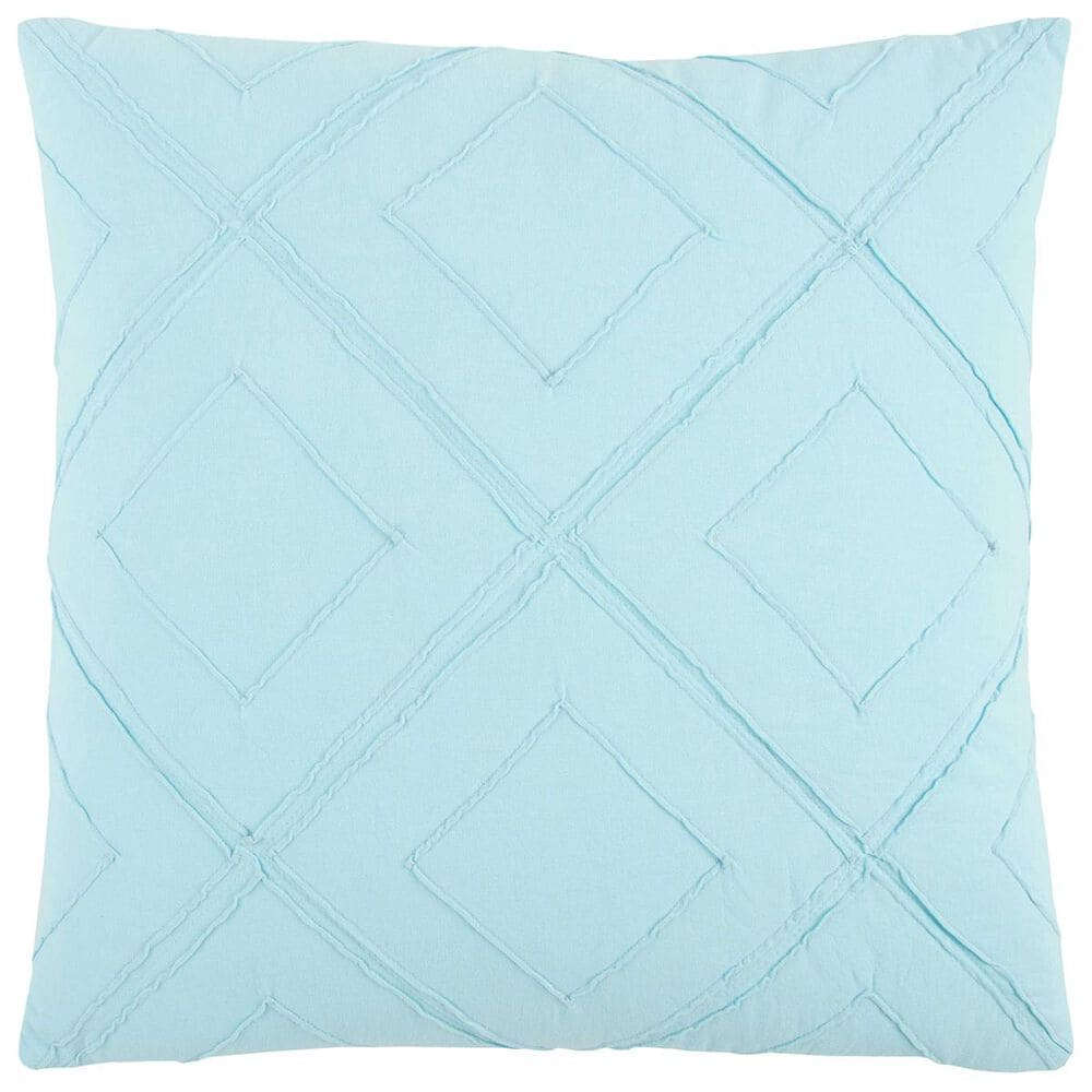 """Rizzy Home 20"""" x 20"""" Pillow Cover in Solid Light Blue, , large"""
