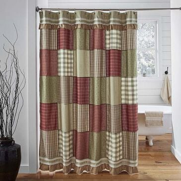 VHC Prairie Winds Shower Curtain in Brick Red, , large