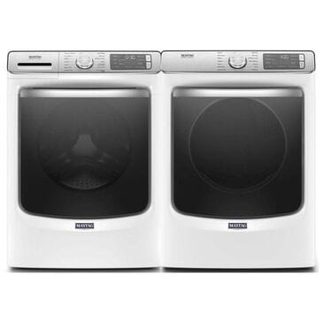 Maytag 5.0 Cu. Ft. Front Load Washer and a 7.3 Cu. Ft. Electric Dryer - White, , large