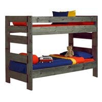Timber Point Bunkhouse Wrangler Twin over Twin Bunkbed in Driftwood