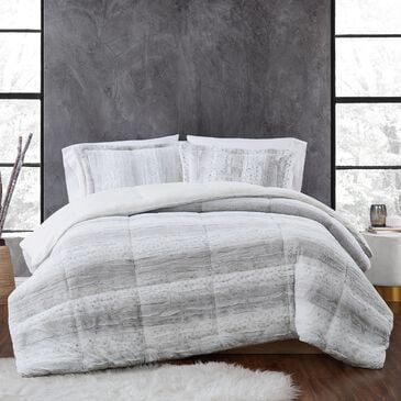 Pem America Snow Leopard 3-Piece Full/Queen Comforter Set in Grey, , large