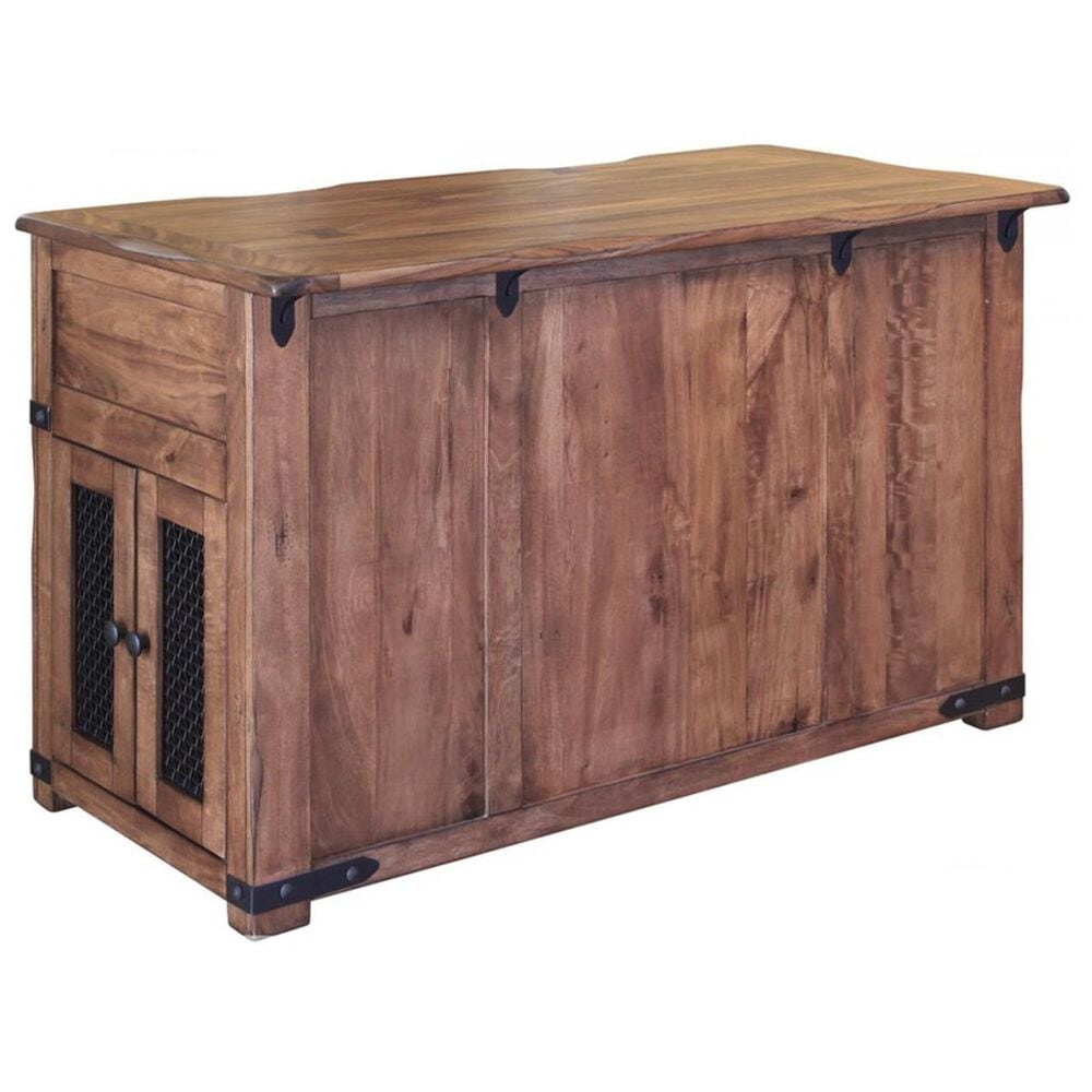 Fallridge Parota 3-Piece Kitchen Island Set in Natural Two-Toned Wood, , large