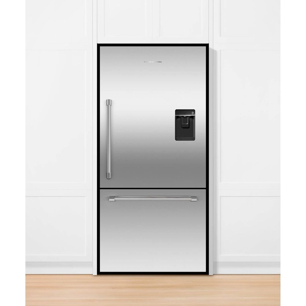 """Fisher and Paykel 32"""" Freestanding Bottom Freezer Refrigerator with Right Hinge in Stainless Steel, , large"""