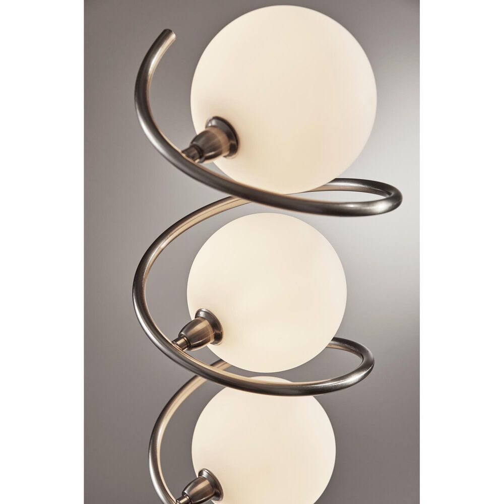 Adesso Olympia LED Floor Lamp in Brushed Steel, , large