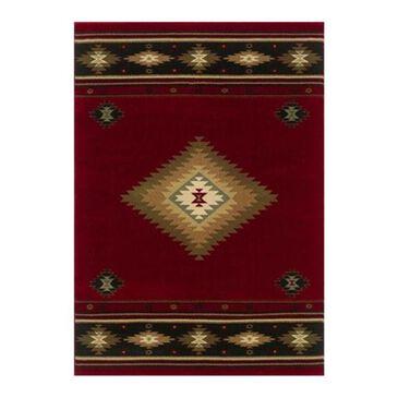 "Oriental Weavers Hudson 87K 1'10"" x 7'6"" Red Runner, , large"