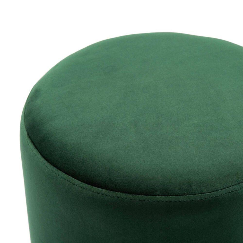 Tov Furniture Pri Ottoman in Forest Green, , large