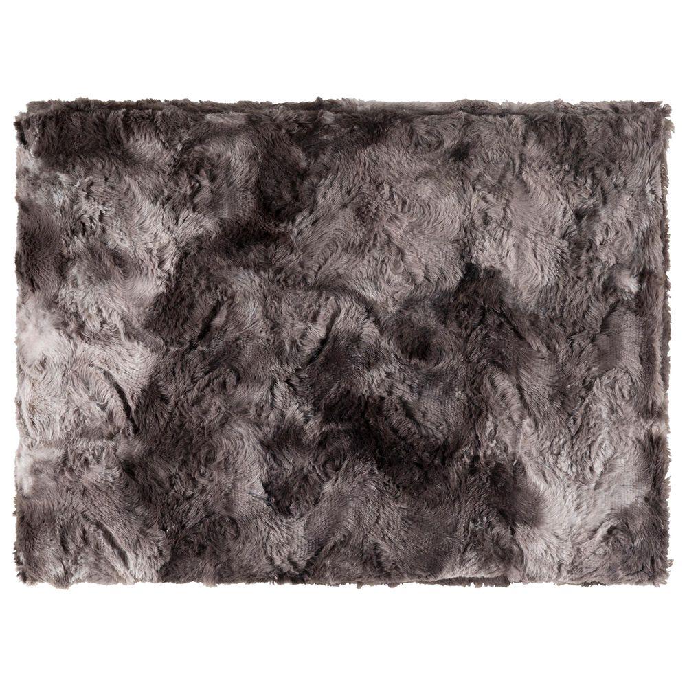 "Surya Inc Felina 50"" x 70"" Throw in Charcoal, , large"