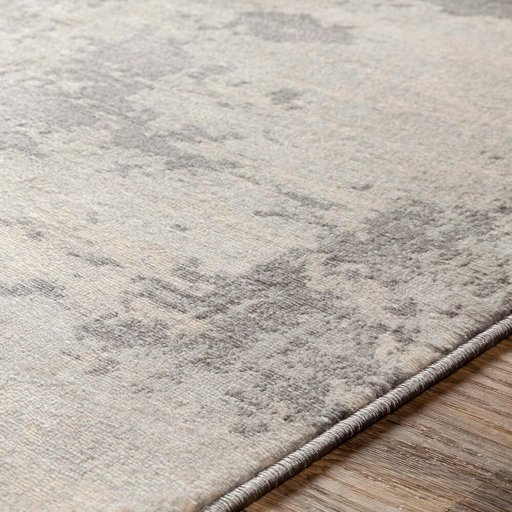 Surya Monaco MOC-2311 2' x 3' Silver Gray and Cream Scatter Rug, , large