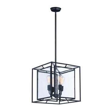 Maxim Lighting Era 4-Light Pendant with Bulb in Black, , large