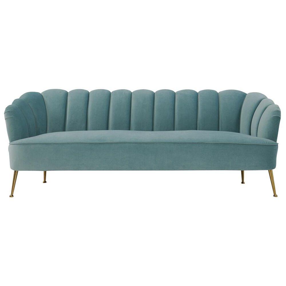 Tov Furniture Daisy Velvet Sofa in Sea Blue, , large
