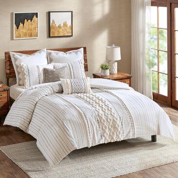 Hampton Park Imani 3-Piece Full/Queen Comforter Mini Set in Ivory, , large