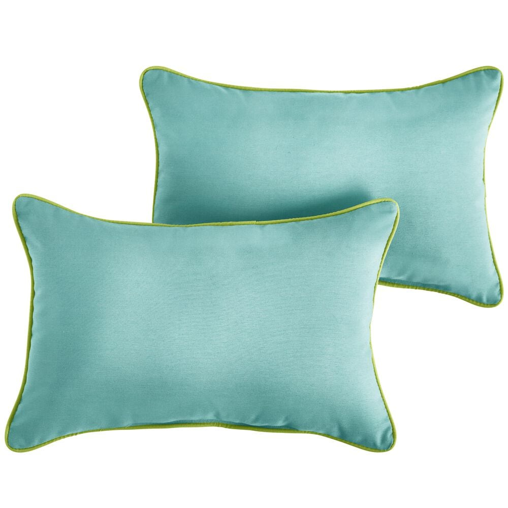 "Sorra Home Sunbrella 16"" x 26"" Pillow in Canvas Aruba (Set of 2), , large"