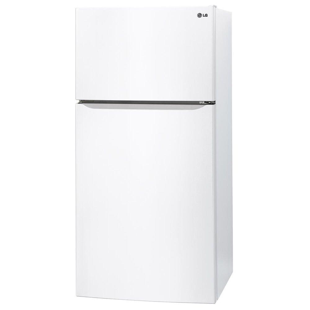 LG 24 Cu. Ft. Top Freezer Refrigerator, White, large