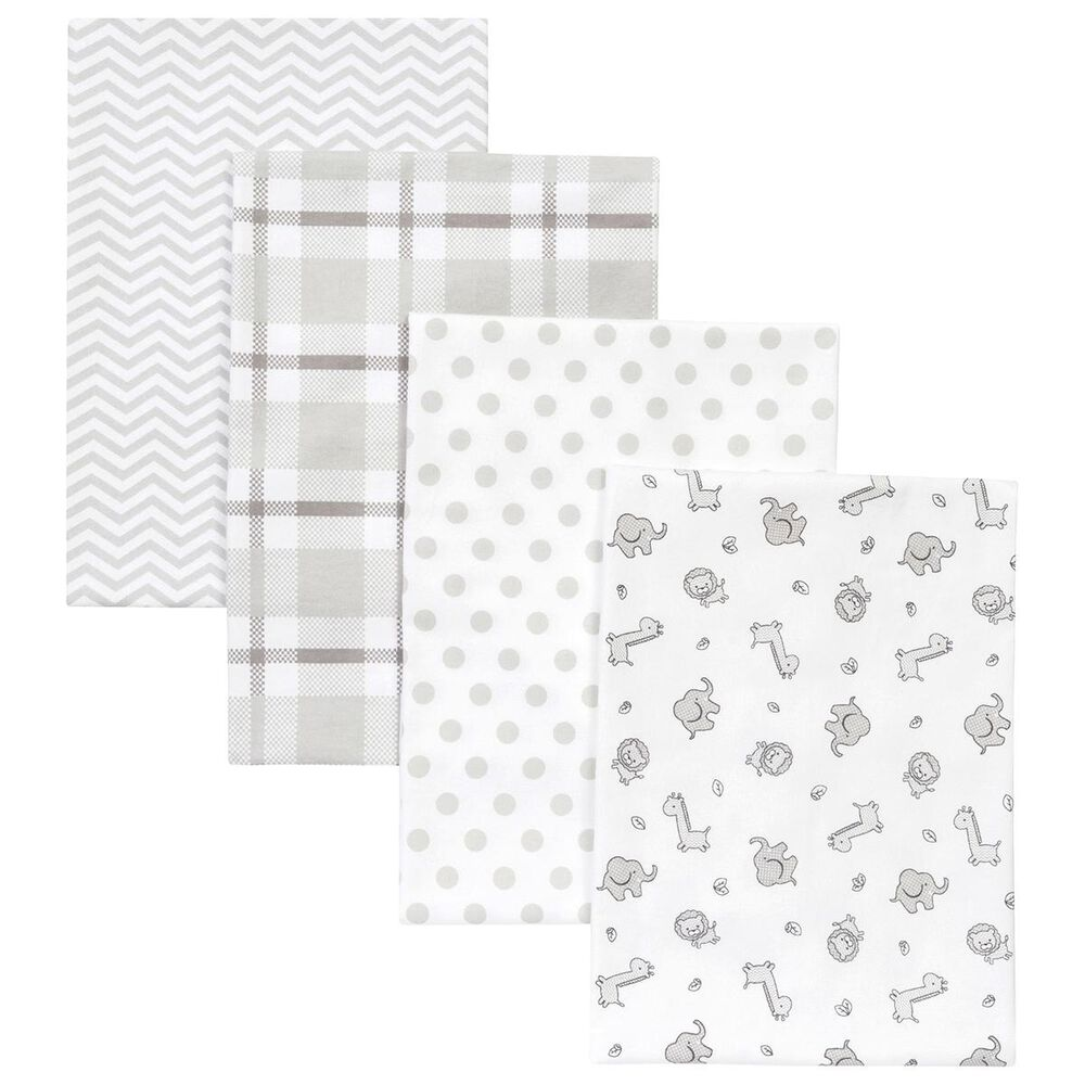 Trend Labs Safari 4-Piece Blanket Set in White, , large